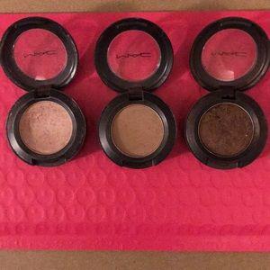 Mac cosmetics eyeshadows- used